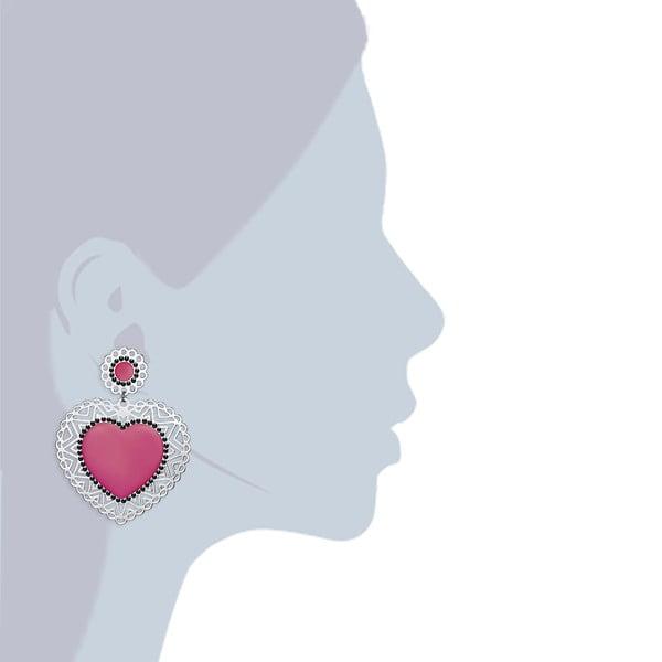 Růžové náušnice Perldesse Adanna