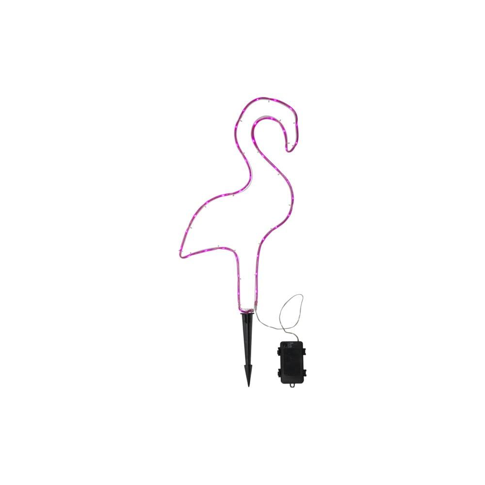 Růžové venkovní LED svítidlo ve tvaru plameňáka Best Season Tuby