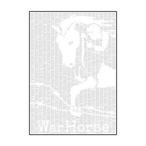 Knižní plakát Válečnýá kůň, 50x70 cm