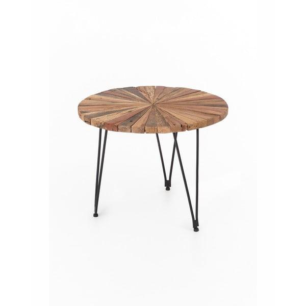 Masă de cafea cu picioare metalice WOOX LIVING Sun, ⌀ 60 cm