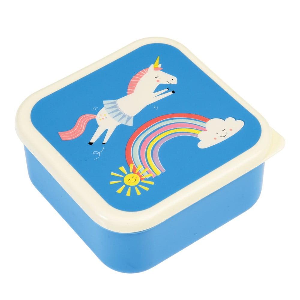 Modrý svačinový box Rex London Magical Unicorn