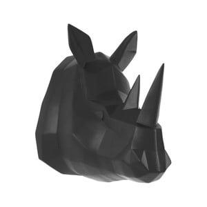 Matně černý nástěnný věšák PT LIVING Origami Rhino