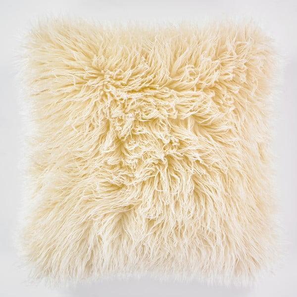 Față de pernă WeLoveBeds Fluffy, 50 x 50 cm, crem