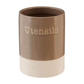 Recipient din ceramică pentru ustensile de bucătărie Premier Housewares, 700 ml, maro de la Premier Housewares