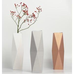 Vysoká kartonová váza, světlá
