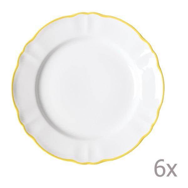 Sada 6 jídelních talířů Parisienne Giallo