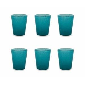 Sada 6 modrých skleniček Villa d´Este Satin