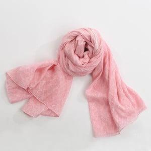 Šátek, pastelově růžová