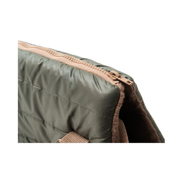 Olivově zelená cestovní taška pro psa Marendog Olive, 18 x 42 x 33 cm