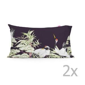 Sada 2 bavlněných povlaků na polštář Happy Friday Cranes,50x75cm