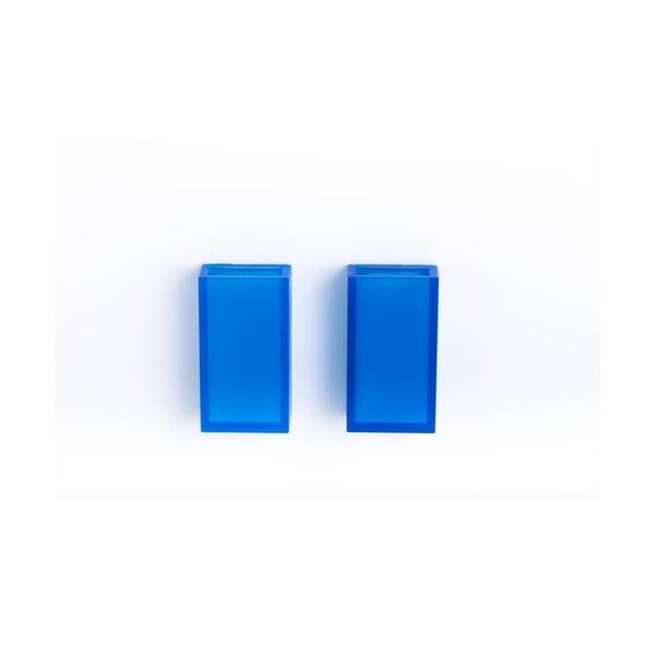 Samodržící nástěnný kelímek na zubní kartáčky Listo Blue, 2 ks