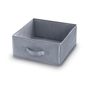 Šedý úložný box Domopak, délka32cm