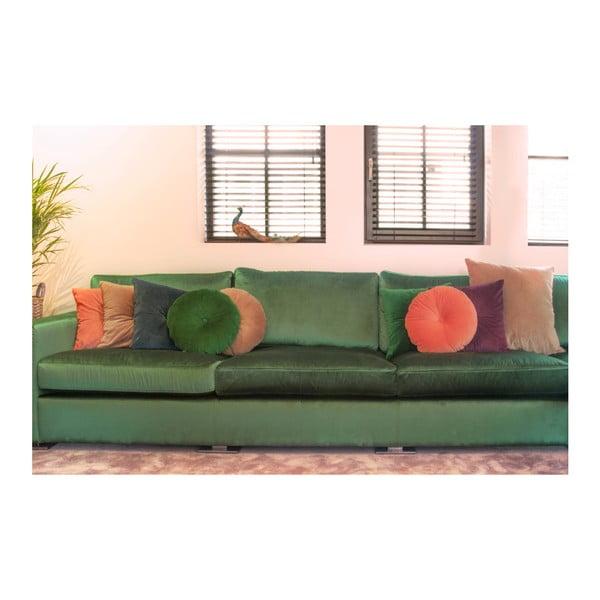 Růžový bavlněný polštář PT LIVING, 45 x 45 cm