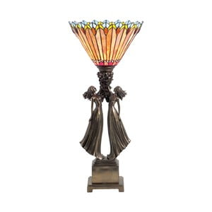 Tiffany stolní lampa Fire
