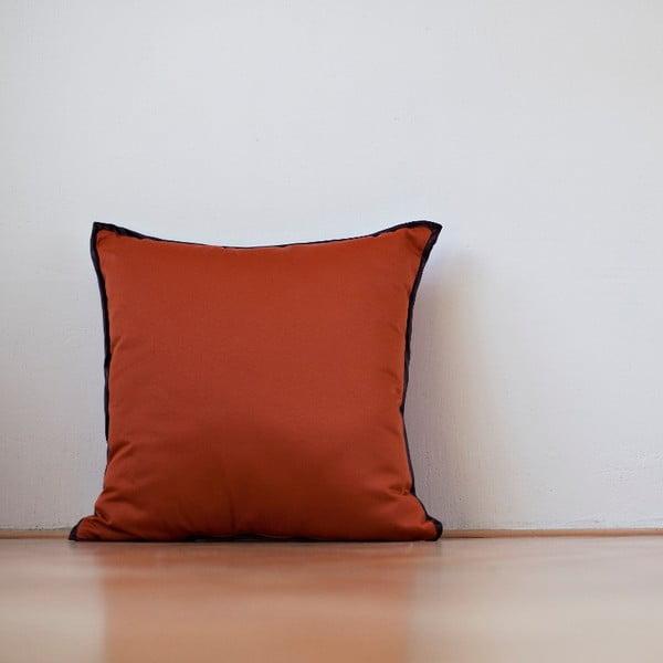 Polštář s výplní Orange Saten, 50x50 cm