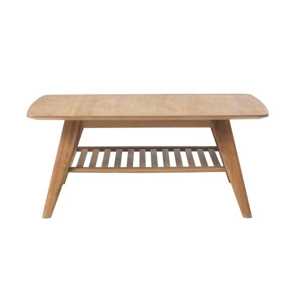 Konferenčny stolík s policou z masívneho duba Unique Furniture Rho