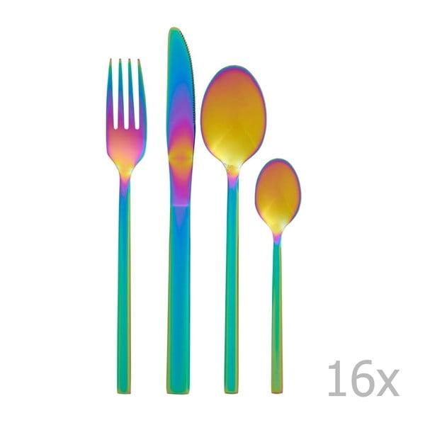 16-częściowy zestaw sztućców z efektem tęczy Premier Housewares Rainbow