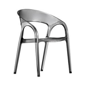 Šedá židle Pedrali Gossip