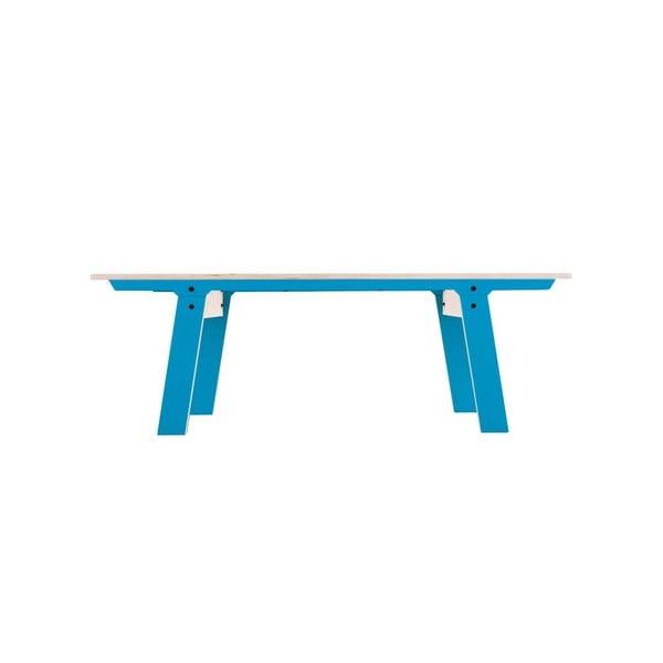 Modrá lavice na sezení rform Slim 01, délka 133 cm