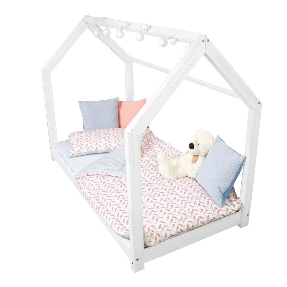 Bílá postel s bočnicemi Benlemi Tery, 80 x 200 cm