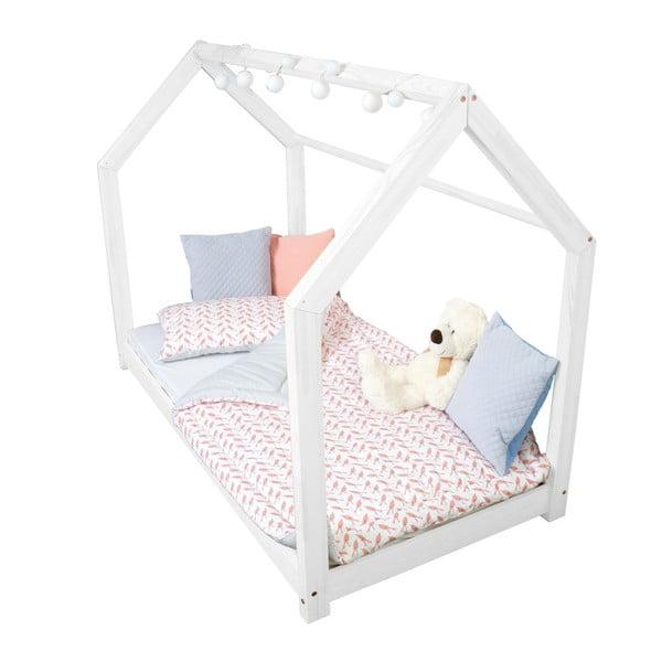 Bílá postel s bočnicemi Benlemi Tery, 120x200cm
