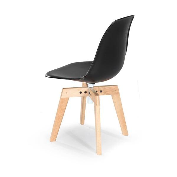 Sada 2 černých židlí Garageeight Barronna