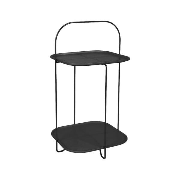 Čierny odkladací stolík Leitmotiv Trays