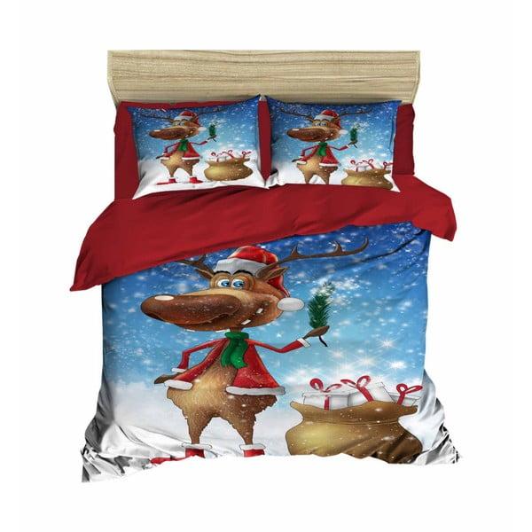 Alessio karácsonyi, kétszemélyes ágyneműhuzat lepedővel, 160 x 220 cm
