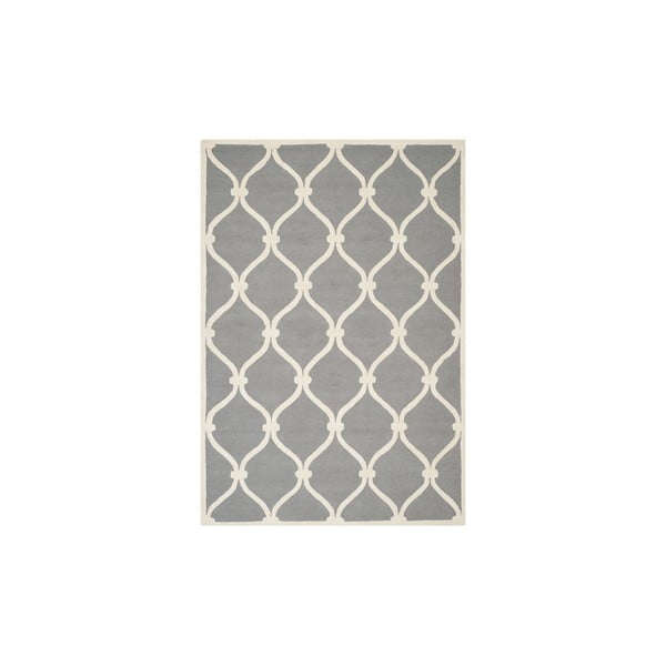 Szary wełniany dywan Safavieh Hugo, 243x152 cm
