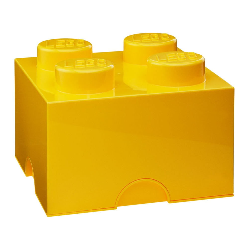 Žlutá úložná kostka LEGO®
