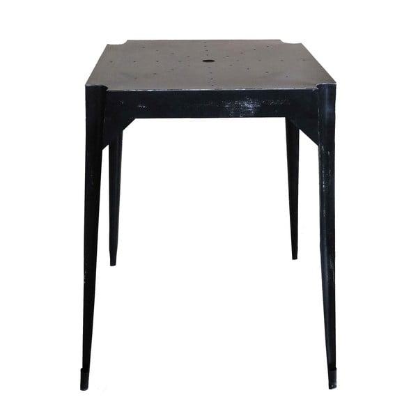 Kovový retro stůl Hayle, černý