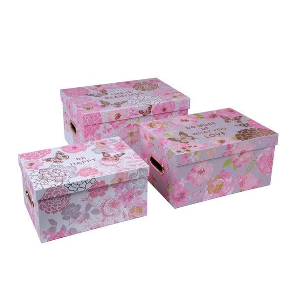 Set de 3 cutii cu mâner Tri-Coastal Design Lovely Garden