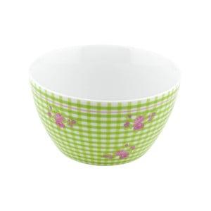 Porcelánová miska Karo, zelená 4 ks