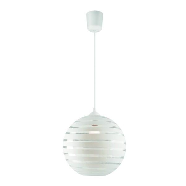 Biała okrągła lampa wisząca Lamkur Lines