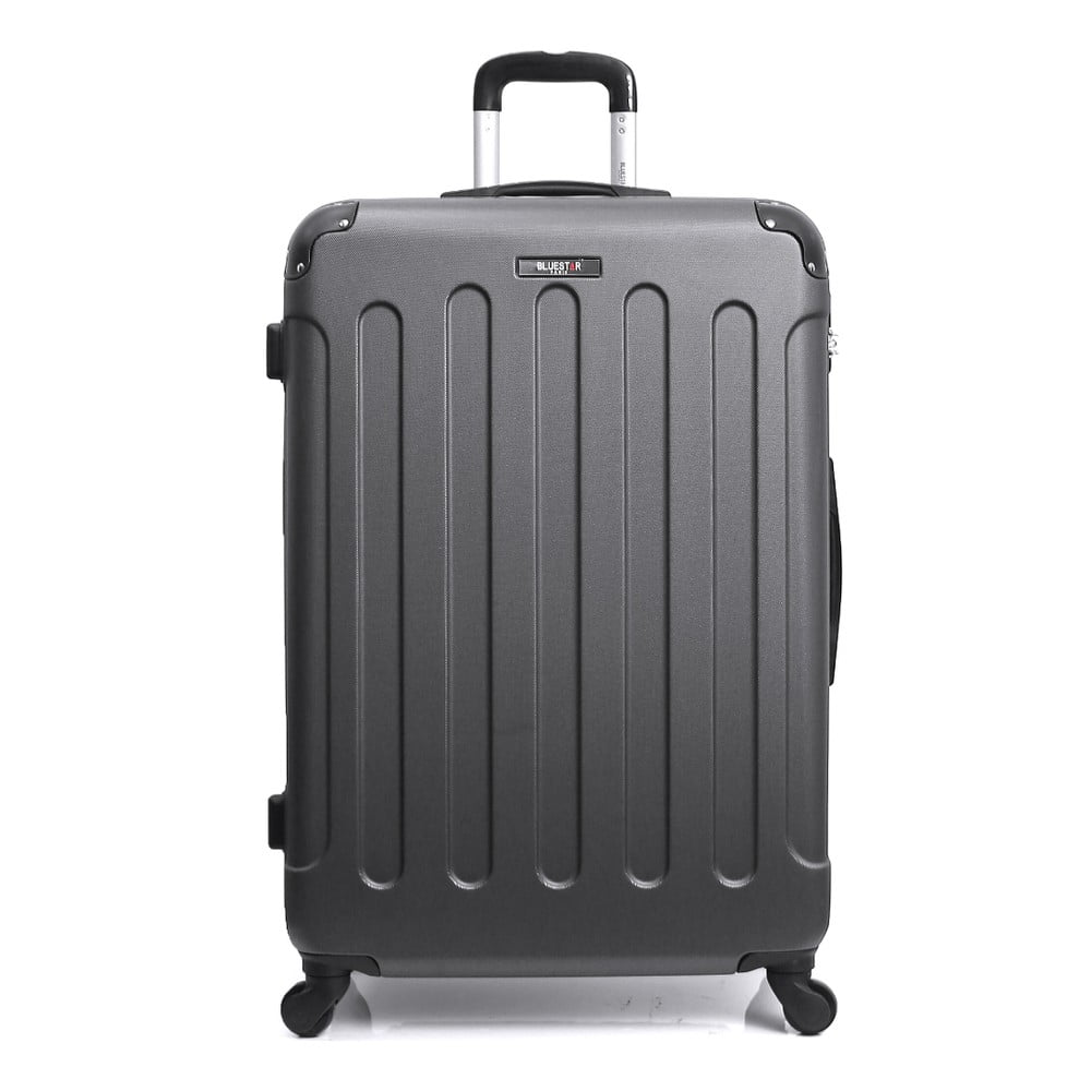 Tmavě šedý kufr na kolečkách Blue Star Madrid, 60 l