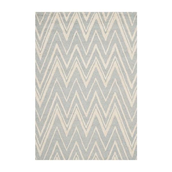 Vlněný koberec Luca Light Blue, 121x182 cm