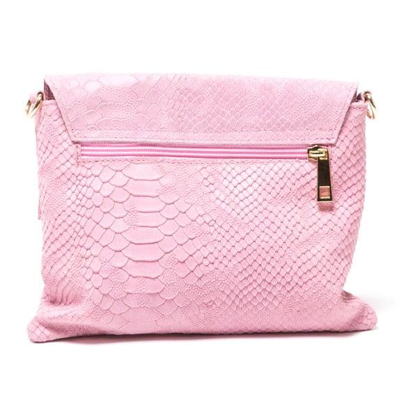 Kožená kabelka Delfina, růžová