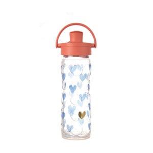 Sticlă de voiaj, din sticlă cu protecție din silicon, Lifefactory Crush Activ Premium, 475 ml