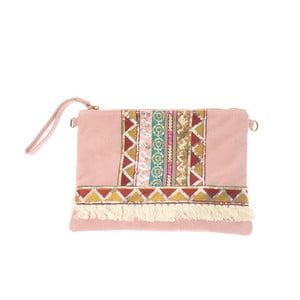Béžovorůžová kožená kabelka Tina Panicucci Hindu