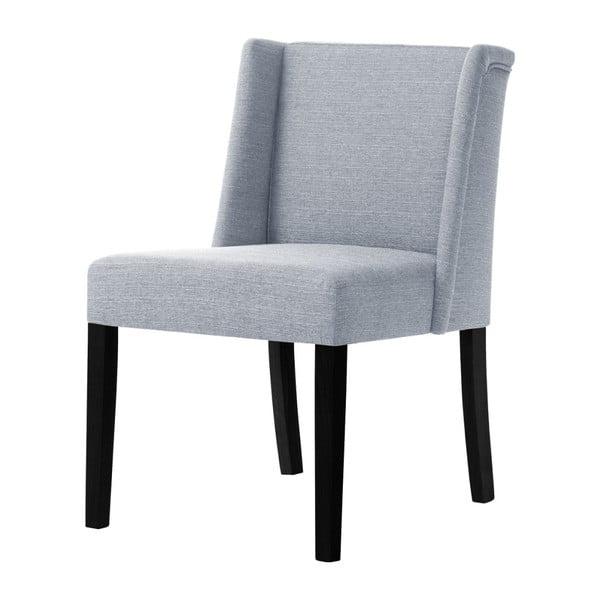Šedá židle s černými nohami z bukového dřeva Ted Lapidus Maison Zeste