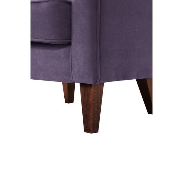 Tmavě fialové křeslo Jalouse Maison Kylie