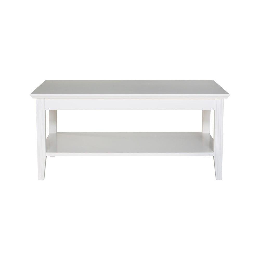 Bílý konferenční stolek Wermo Family, 100x65cm