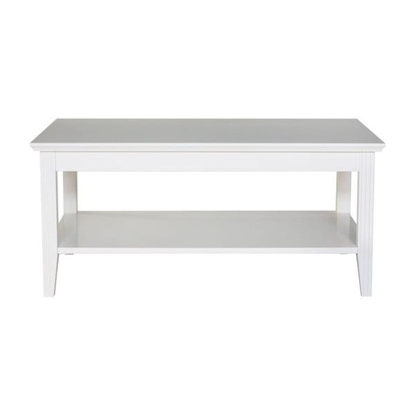 Family fehér dohányzóasztal, 100 x 65 cm - We47