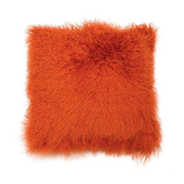 Polštář z mongolské vlny, oranžový