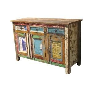 Dřevěná třídveřová komoda se 3 zásuvkami Støraa Glenn