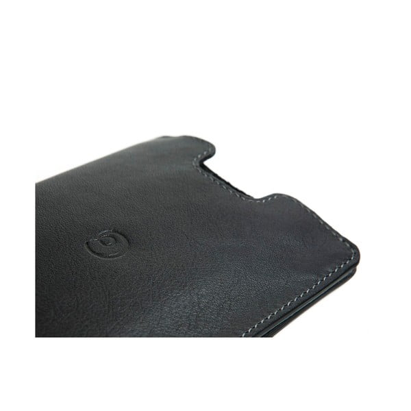 Danny P. kožená peněženka Pocket s kapsou na iPhone 5 Black