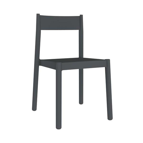 Sada 4 tmavě šedých zahradních židlí Resol Danna