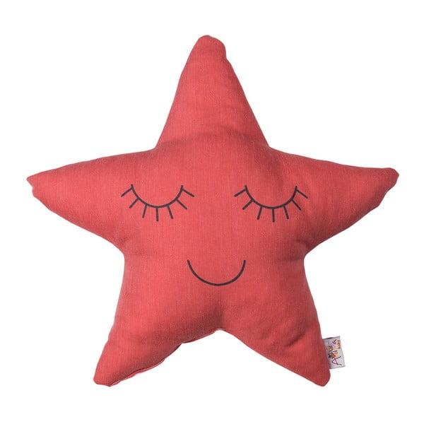 Červený dětský polštářek s příměsí bavlny Apolena Pillow Toy Star, 35 x 35 cm