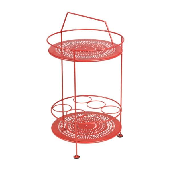 Montmartre piros kerti bárasztal, Ø 40 cm - Fermob