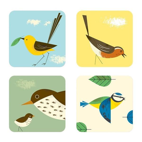 Sada 4 podtácků Birdy